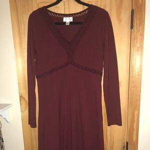 Beautiful Burgendy Loft Dress